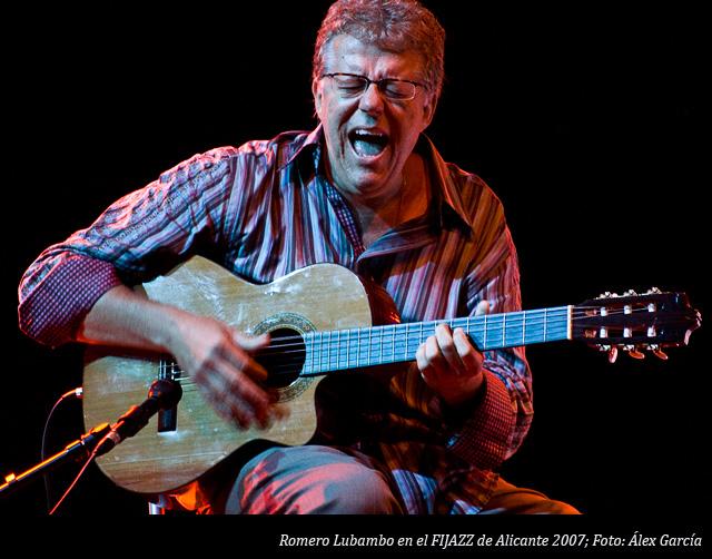 Romero Lubambo en el concierto del FIJAZZ de Alicante en 2007