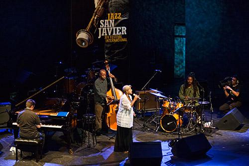 Rene Marie en Jazz San Javier con su cuarteto (quinteto si contamos con el cámara); © Álex García