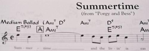 Partitura Summertime