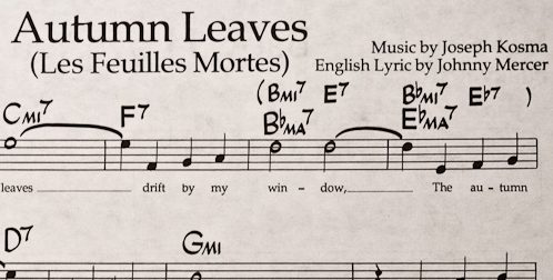 Partitura Autumn Leaves