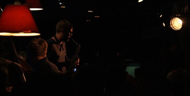 Víctor Jiménez Quartet, durante su actuación en Jimmy Glass